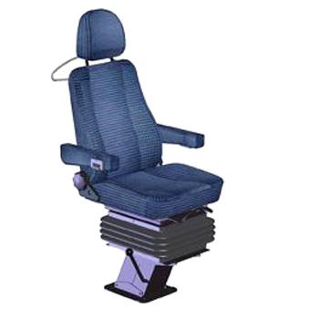 Gefederter Lokführersitz