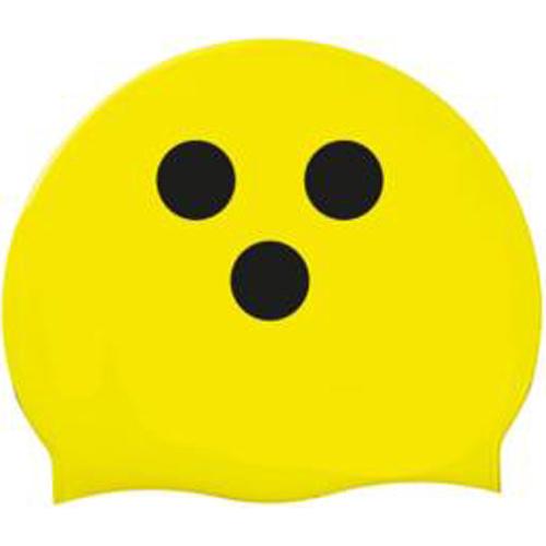 Badekappe gelb mit schwarzen Punkten