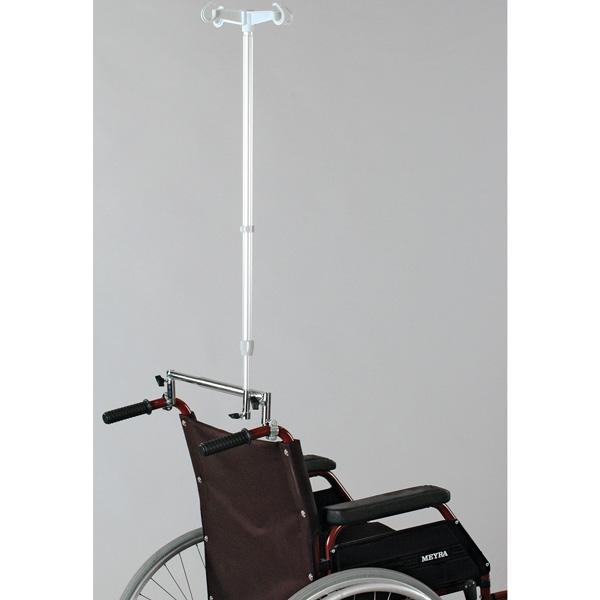 Infusionsstativ für Rollstuhl mit 4 Haken
