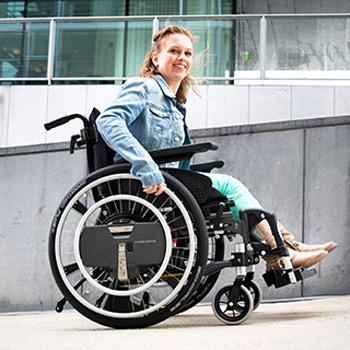 WheelDrive Elektroantrieb für manuelle Rollstühle