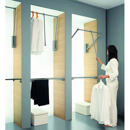 Manueller Kleiderlift - Anwendungsbeipiel