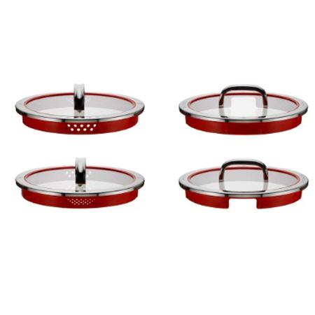 4 Deckel mit Durchmesser  20 cm - 16 cm - 20 cm - 24 cm