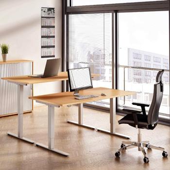 Höhenverstellbarer Steh-Sitz-Schreibtisch