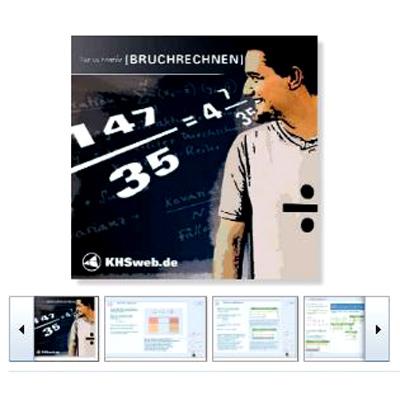 Lernsoftware Fit in Mathe: Bruchrechnen