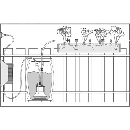 Vollautomatische Blumenkastenbewässerung