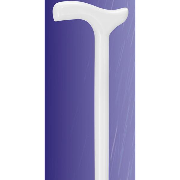 Holzstock in weiß mit Fritzgriff
