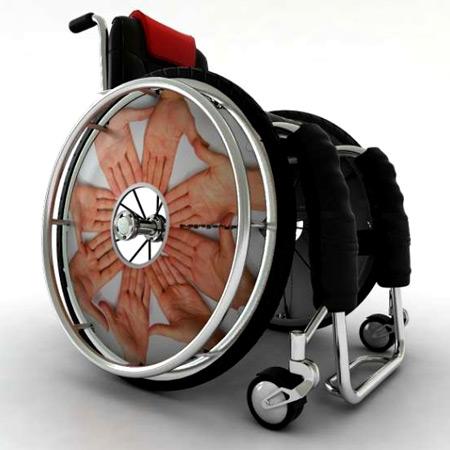 Rollstuhl Speichenschutz