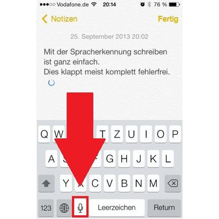 Notizen-App mit Diktierfunktion