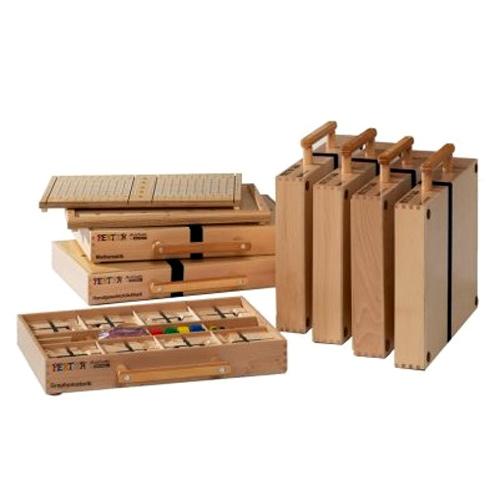 Pertra Fördermaterial komplett mit 7 Koffern
