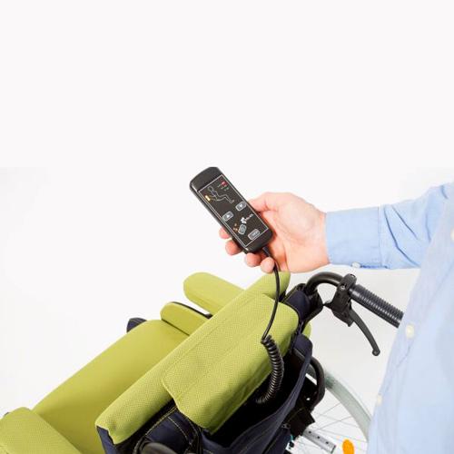 Sitz- und Rückenheizung für den Rollstuhl