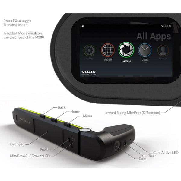 Vuzix M300 - Bedienelemente und Sichtfeld