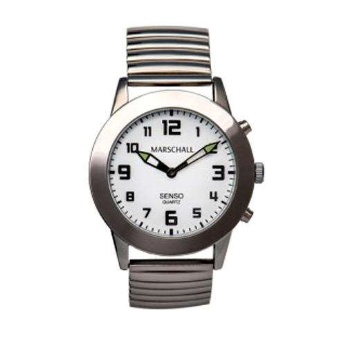 Senso- Armbanduhr silberfarben mit verstellbarem Metallzugband
