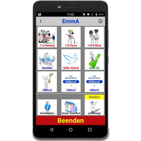 EmmA - die persönliche Notruf - App