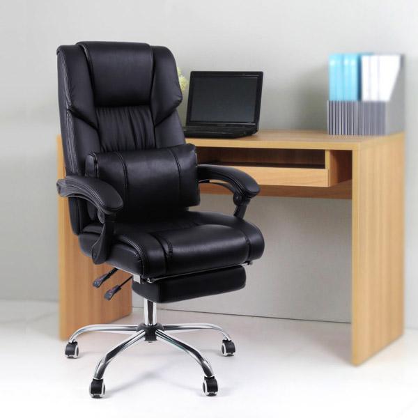 Songmics OBG71B Bürostuhl mit Fußablage und Lendenkissen