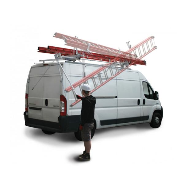 Dachträgersystem zum Leitertransport