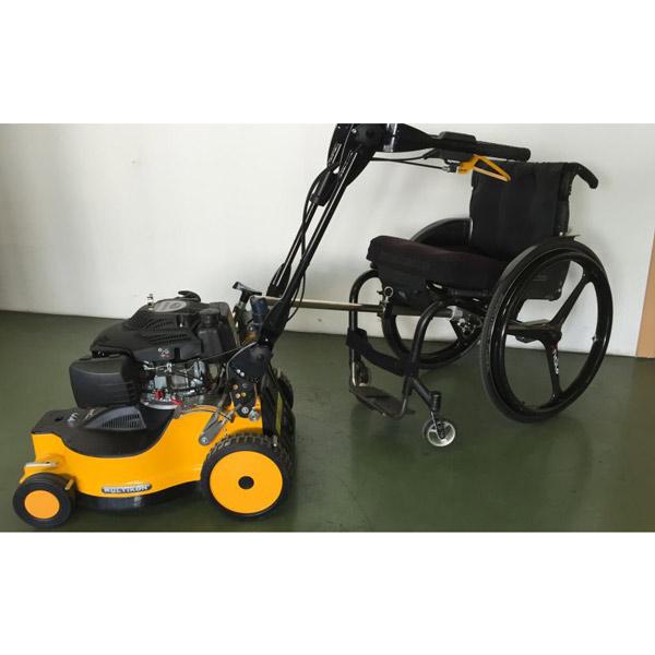 Rollstuhl-Adapter für Rasenmäher