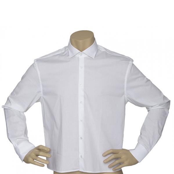 Herren Hemd Langarm, Weiß 30062