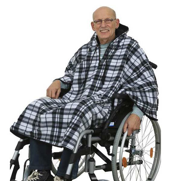 KaroT Rollstuhlponcho Double Fleece