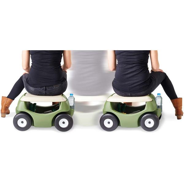 Gartensitz mit Rädern