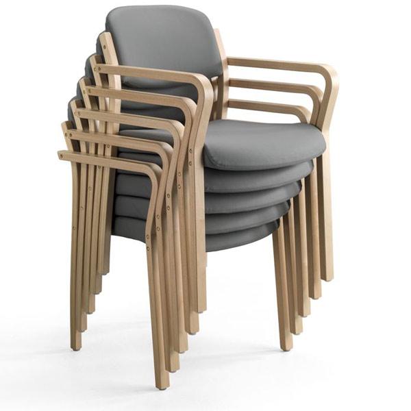 Duun Stapelstuhl mit verstellbarer Sitzfläche