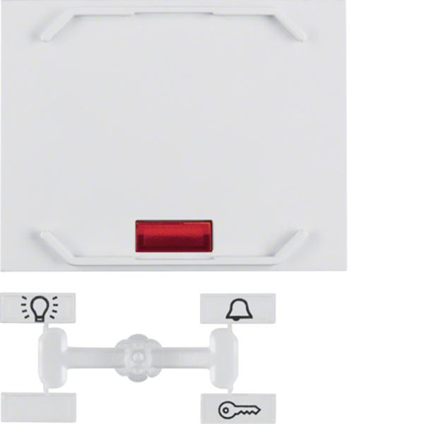 Wippe mit 5 beiliegenden Linsen und Führung für Mundstab K.1 polarweiß