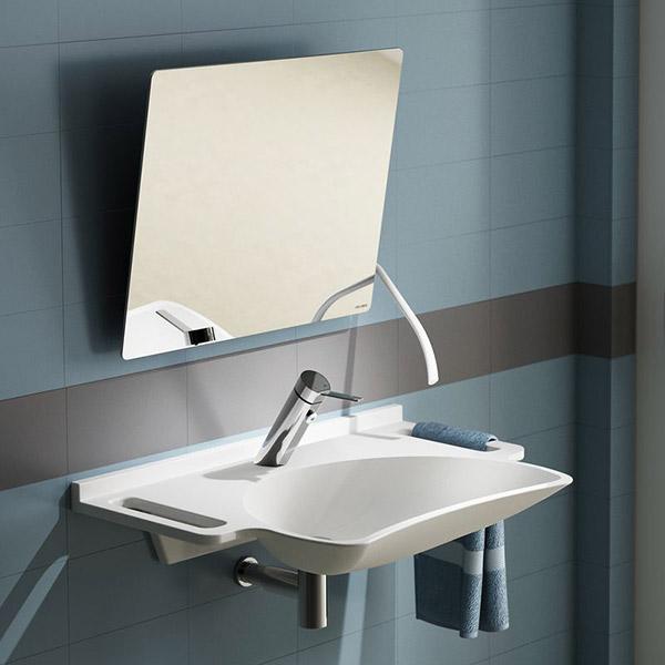 Kippspiegel mit langem ergonomischem Hebel