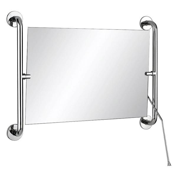 Kippspiegel mit langem Hebel und seitlichen Haltebügeln