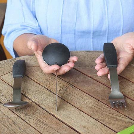 Besteckset, 1 Messer, 1 Gabel, 1 Löffel