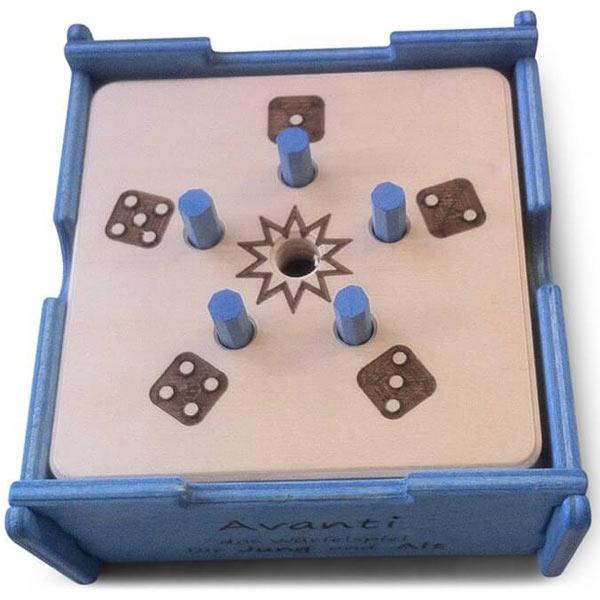 Brettspiel für Blinde Avanti Würfelspiel Taktil