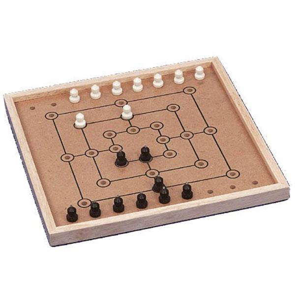 Klassisches Brettspiel Mühle für Blinde