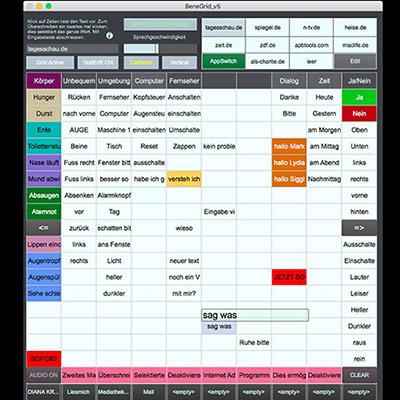 BeneGrid Mac - normale Darstellung