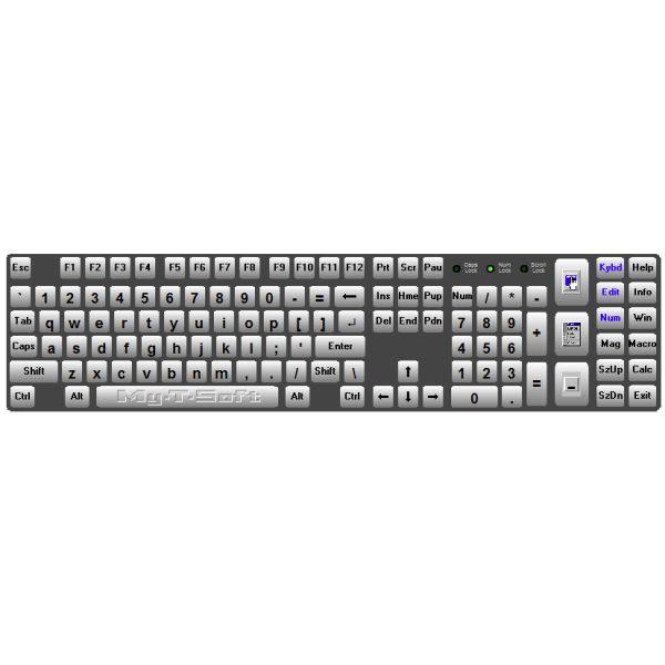 Beispiel der Bildschirmtastatur My-T-Soft