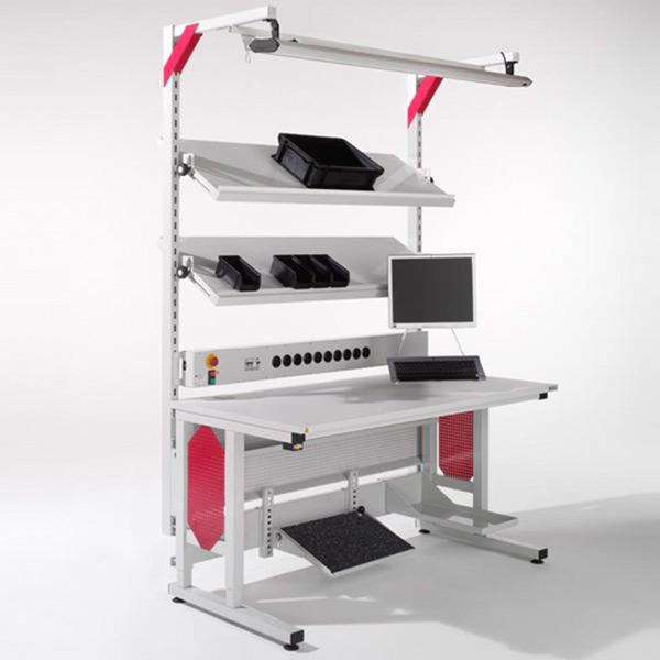 Arbeitsplatzsystem Sintro mit TFT-Halter