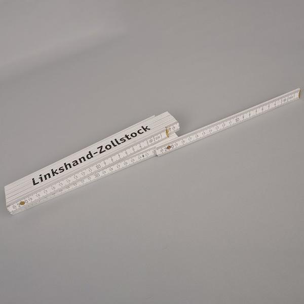 Zollstock bei Linkshandbedienung