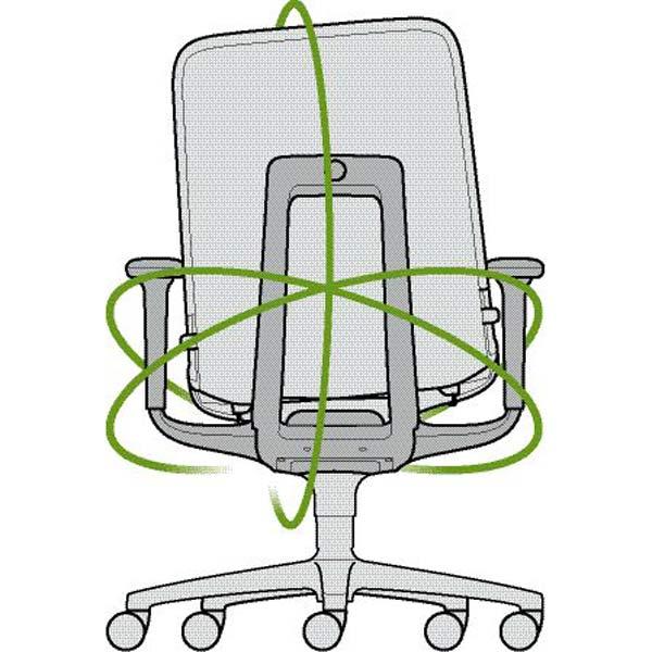 AT Bürostuhl mit ESP - free-2-move - 3D-Beweglichkeit