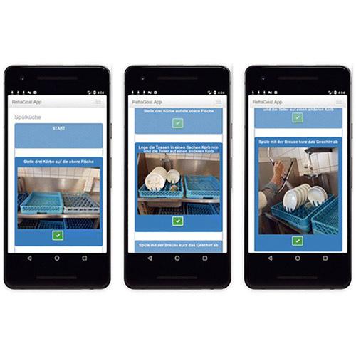 App RehaGOal: Beispiel Spülküche