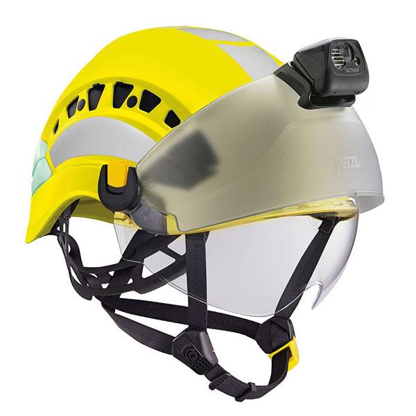 Schutzhelm VERTEX mit Visier und Stirnlampe (optional)