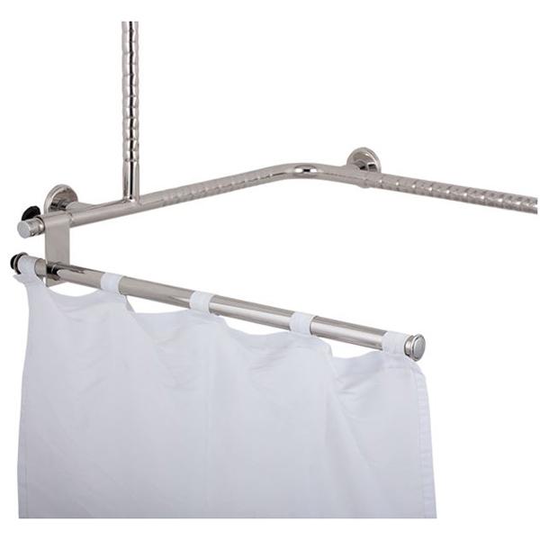 basic-Duschspritzschutz mit Fallsicherung und 5-fach höhenverstellbar