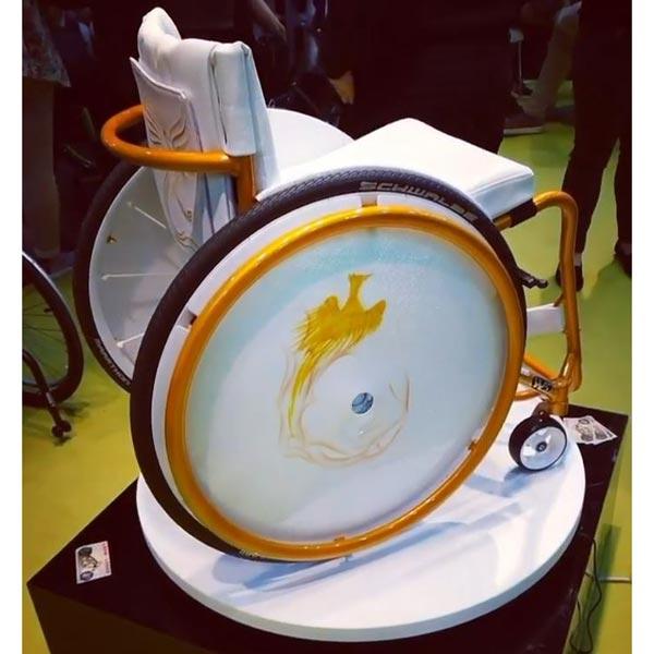 Hochzeit - Rollstuhl mit Airbrush