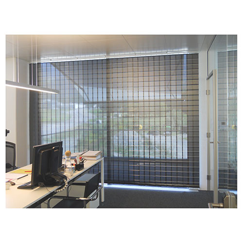 Lamellenvorhang Beschattung für Besprechungsräume im Büro