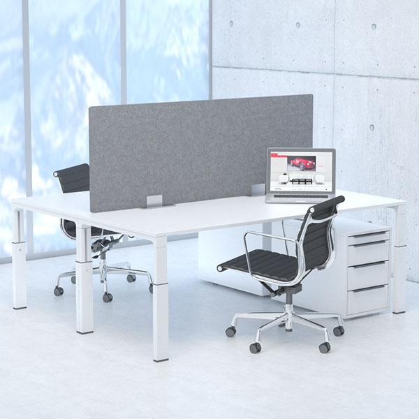 schallfrei! Akustik-Schreibtischsysteme