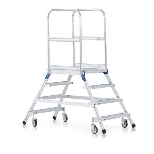 Fahrbare Podesttreppe, beidseitig begehbar
