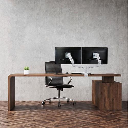 LX Dual Monitor Arm für zwei Monitore nebeneinander, Tischhalterung