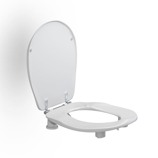 WC-Sitz Ergosit mit Deckel, erhöht 50 mm