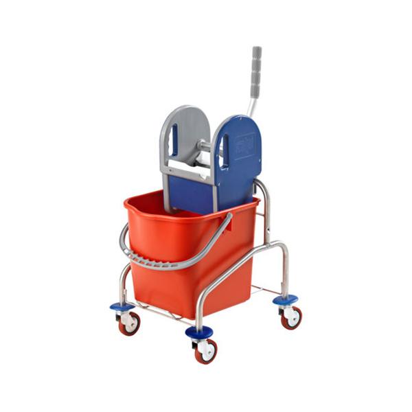 EUROKRAFT Reinigungswagen Edelstahl