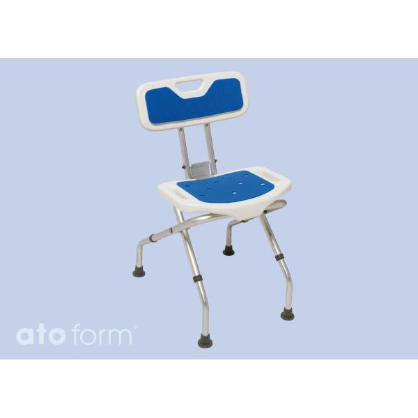 Blue seat Duschhocker faltbar mit Rückenlehne