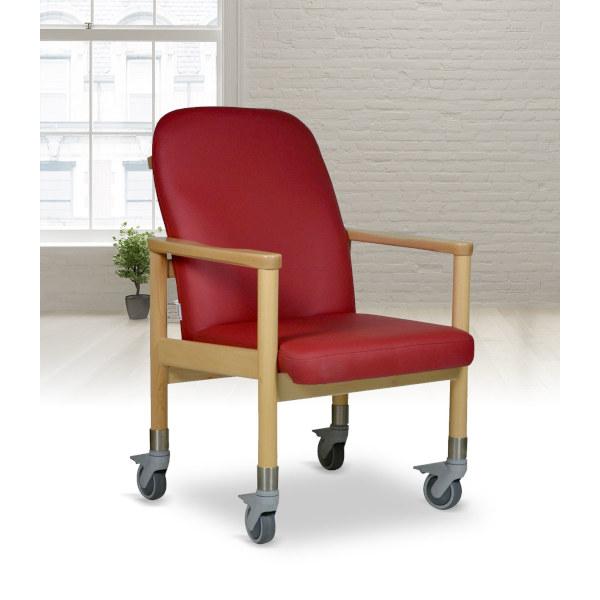 Stuhl mit Rollen Lübeck mit und ohne Schiebegriff