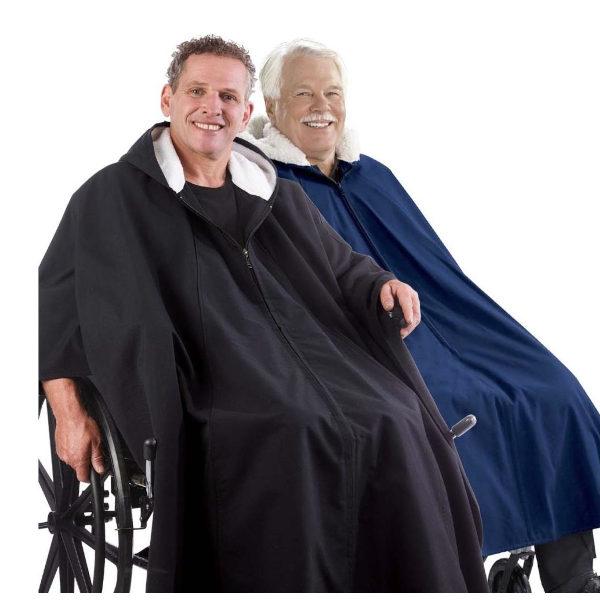 Rolly Rollstuhlponcho Winter-Cape warm gefüttert wetterfest