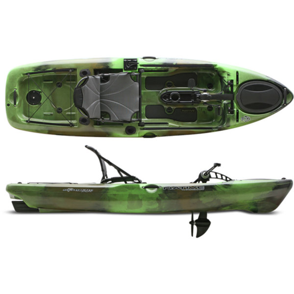 Native Watercraft Slayer 10 Propel Propeller Kajak - an Kajak montiert