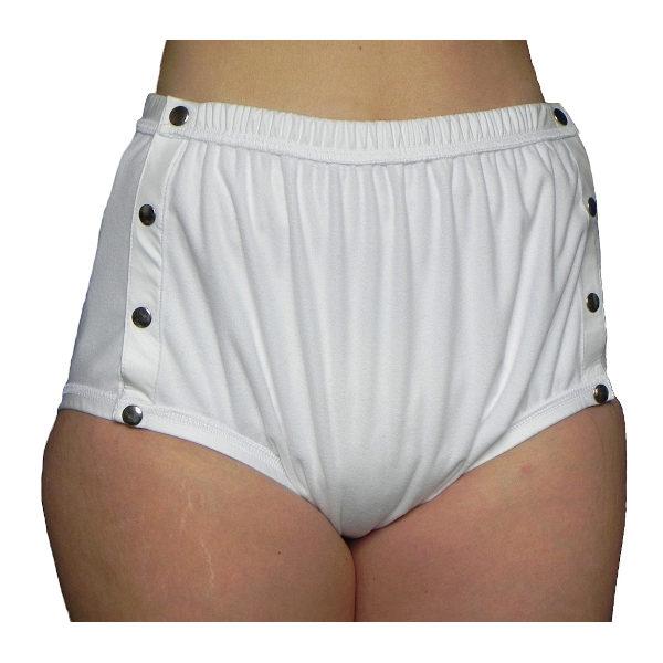 Premium PU Inkontinenz-Slip aus POLYPES, Knöpfer; getragen